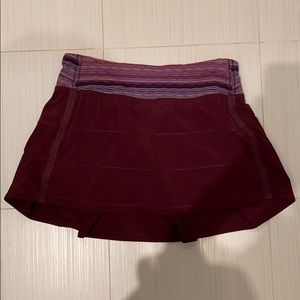 Dresses & Skirts - Lululemon Burgundy Skirt